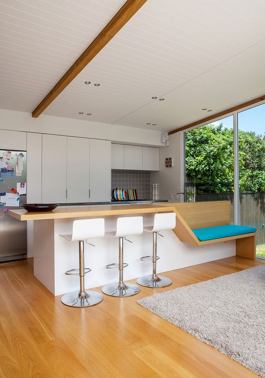 Smart kitchen island design comes with additional seating