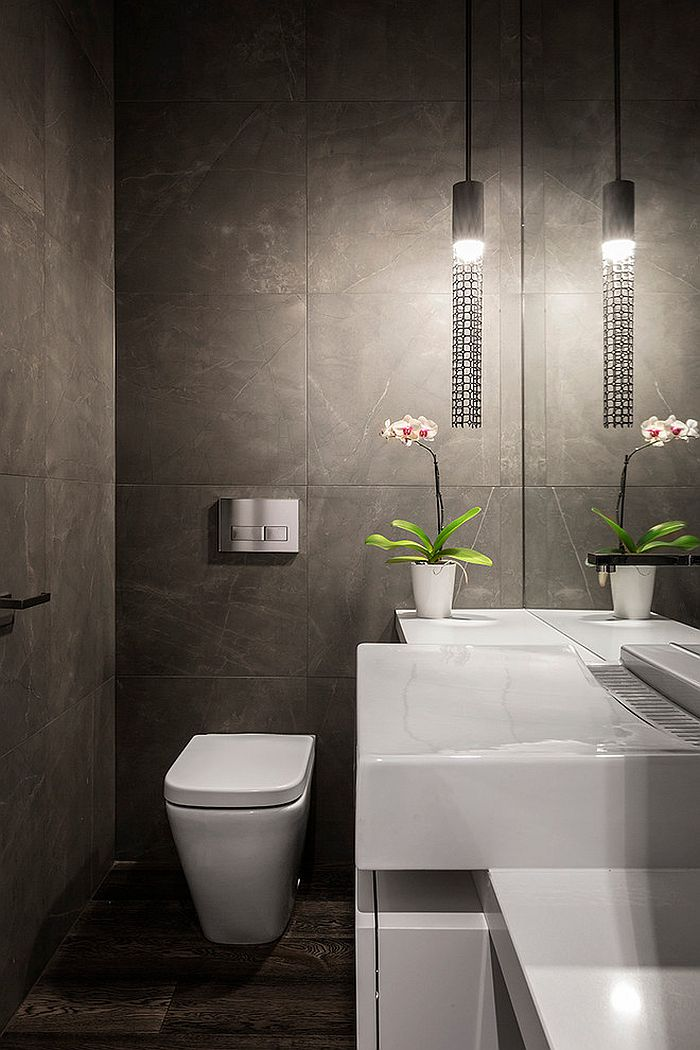 Smart lighting choice for the contemporary powder room