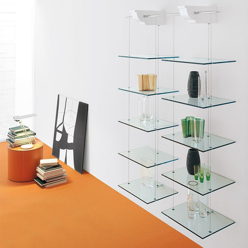 Snazzy shelves can also double as awesome decorative additions