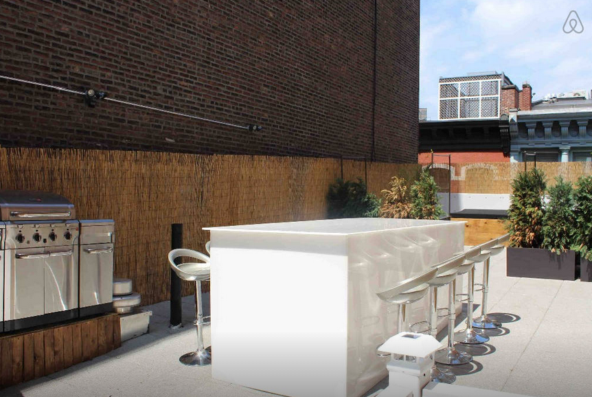Soho Mercer Street Penthouse Skybar with Outdoor Seating