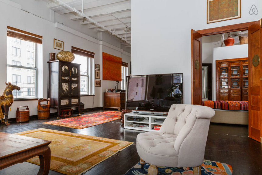 Soho loft with private elevator artist's home