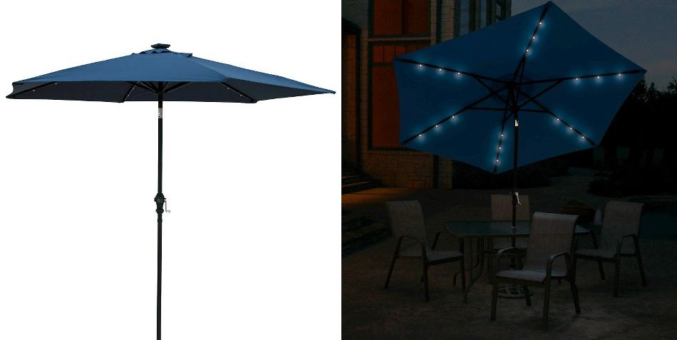 Solar lighted umbrella from Target