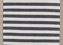 Striped outdoor rug from Restoration Hardware