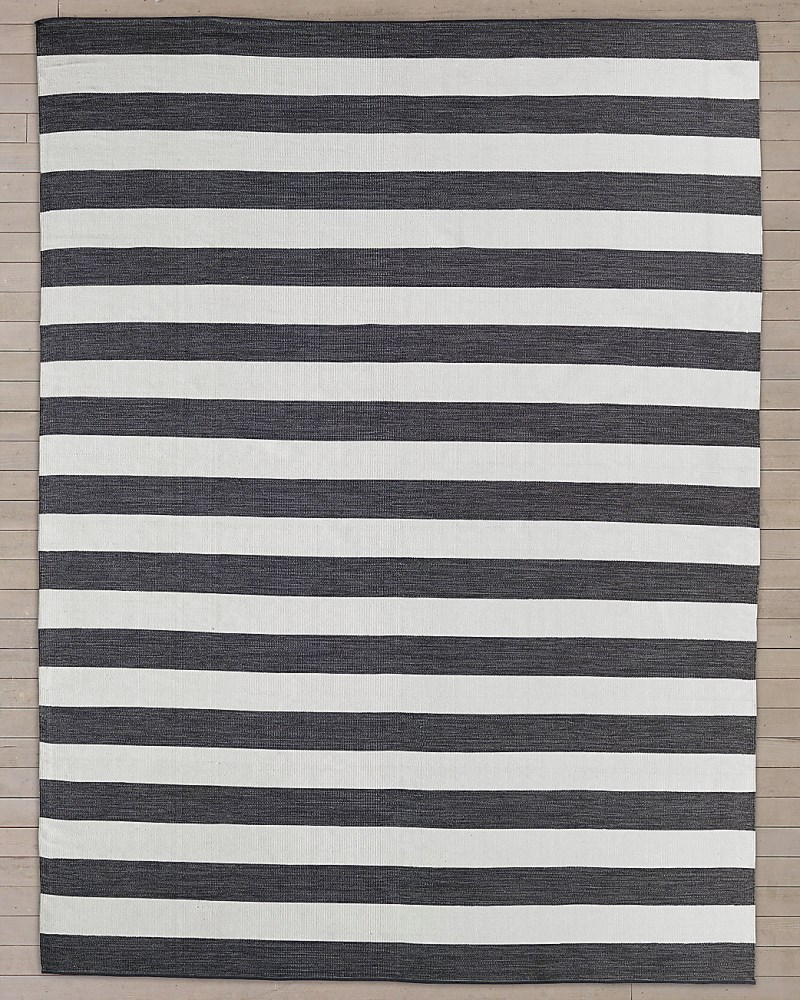View In Gallery Striped Outdoor Rug From Restoration Hardware