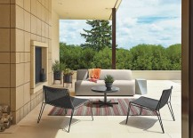 Striped outdoor rug from Room & Board