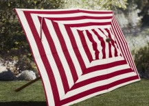 Striped rectangular umbrella from Pottery Barn
