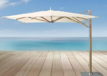 Sturdy teak umbrella from Restoration Hardware