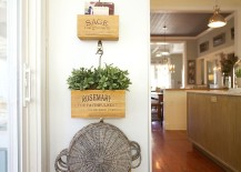 Stylish crates are perfect for a small indoor herb garden anywhere 217x155 18 Creative Ideas to Grow Fresh Herbs Indoors