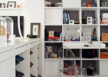 Stylish home office offers plenty of storage space