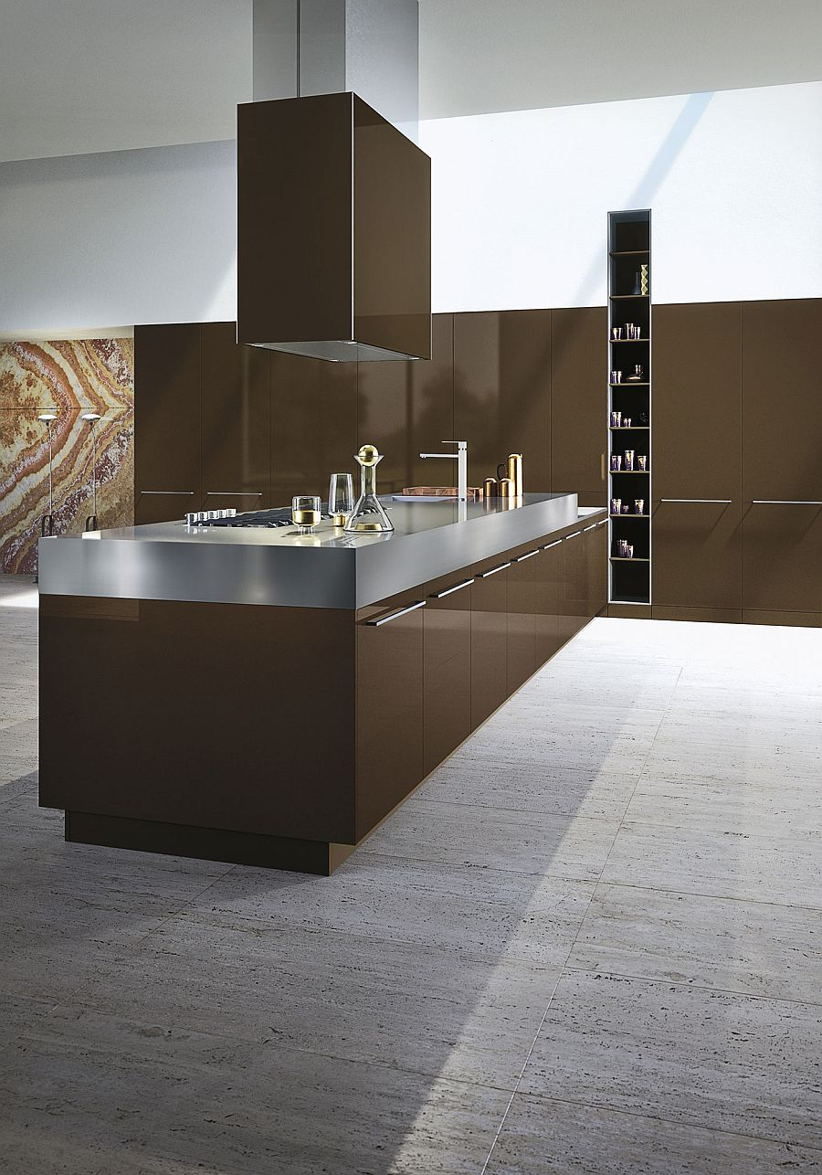 Timeless italian kitchen wrapped in chic elegance by snaidero for Italian modular kitchen