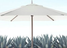 Teak umbrella from Restoration Hardware