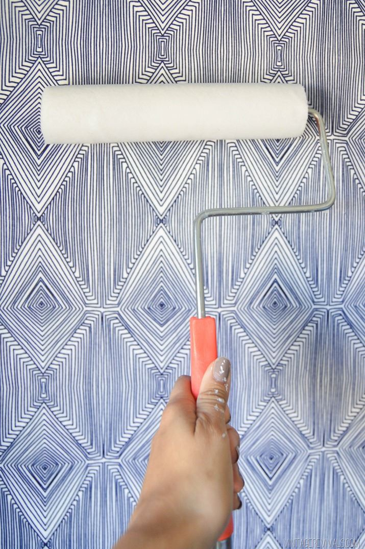 Temporary Fabric Wallpaper from Vintage Revivals