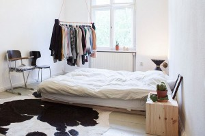 Throw in a cowhide rug for that trademark Scandinavian look