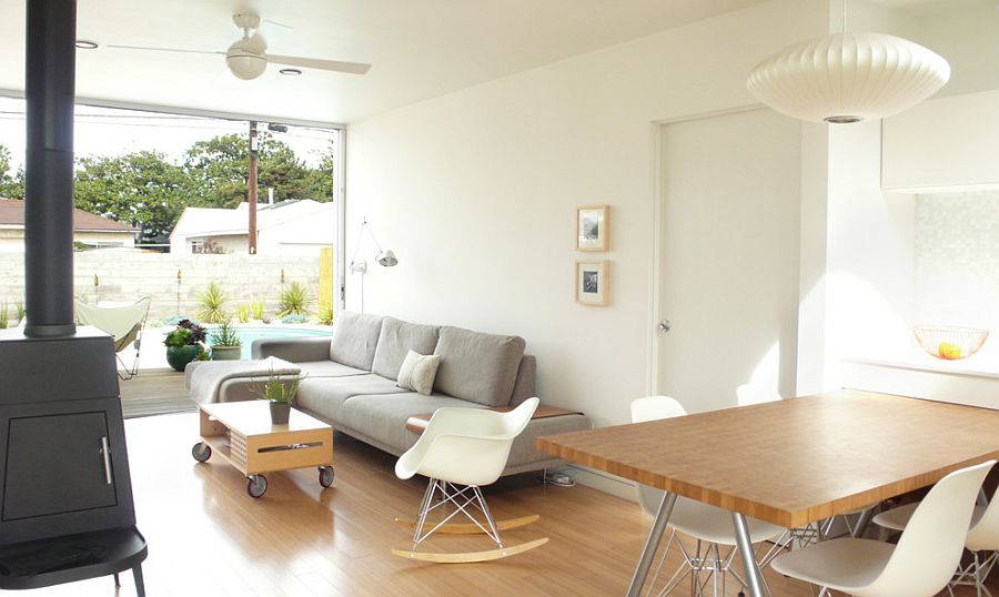 View In Gallery Tiny Coffee Table On Castors In The Scandinavian Living  Space[Design: Ras A