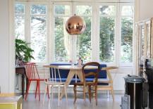 Tom Dixon pendant in the Scandinavian dining room