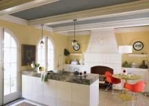 Turn towards the ceiling to give your kitchen a quick makeover