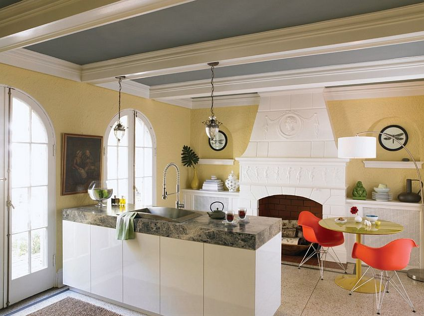 ... Turn towards the ceiling to give your kitchen a quick makeover [Design:  Formica Group