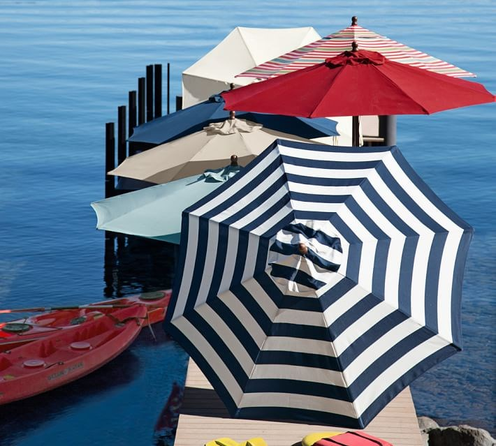 Umbrellas from Pottery Barn