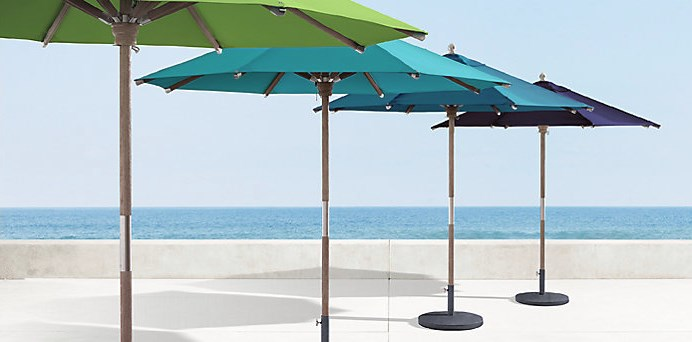 Umbrellas from Restoration hardware