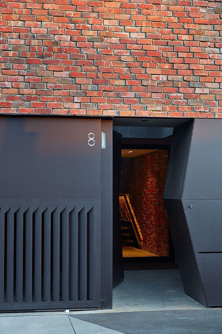 Unique entry of the House of Bricks in Melbourne by Jolson