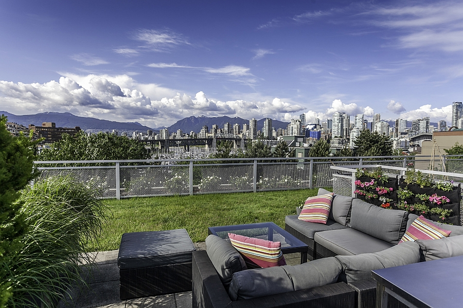 Vancouver Penthouse Rooftop Patio View