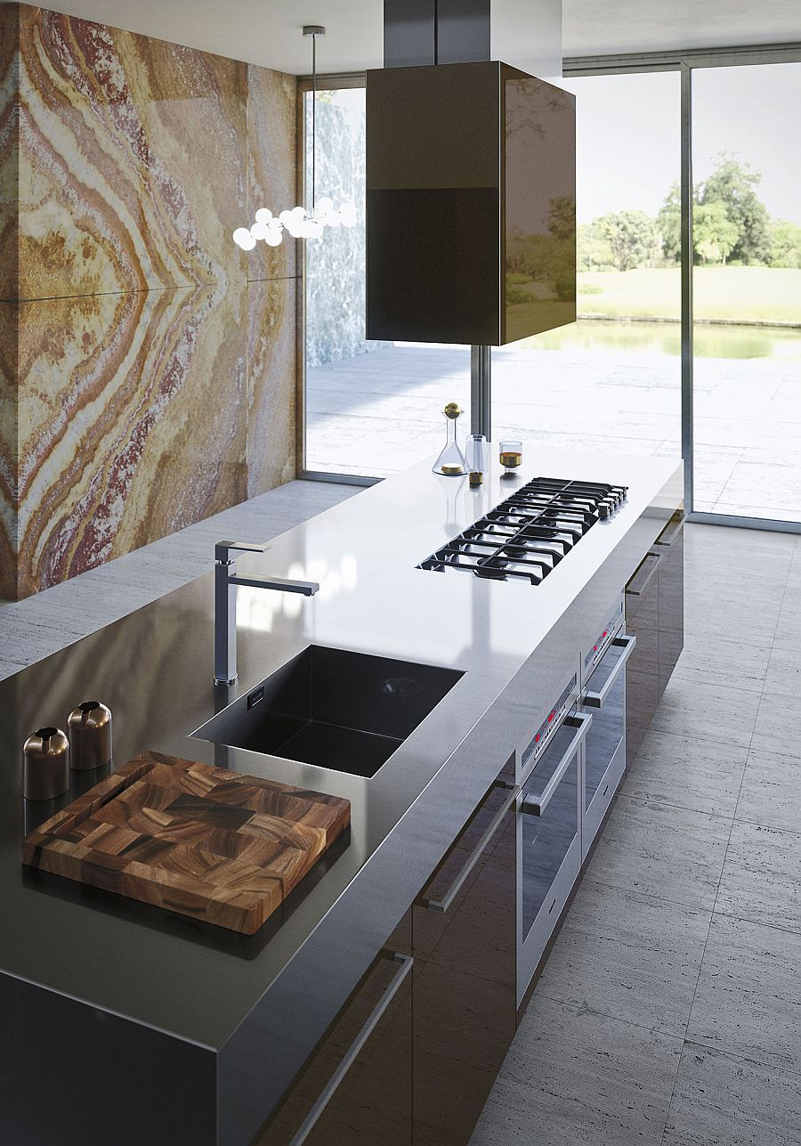 Versatile and functional kitchen surfaces from Snaidero