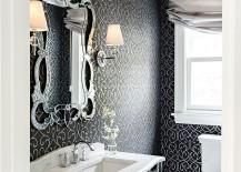 Victorian powder room with unique decor