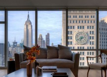 View of the New York City Skyline from the apartment
