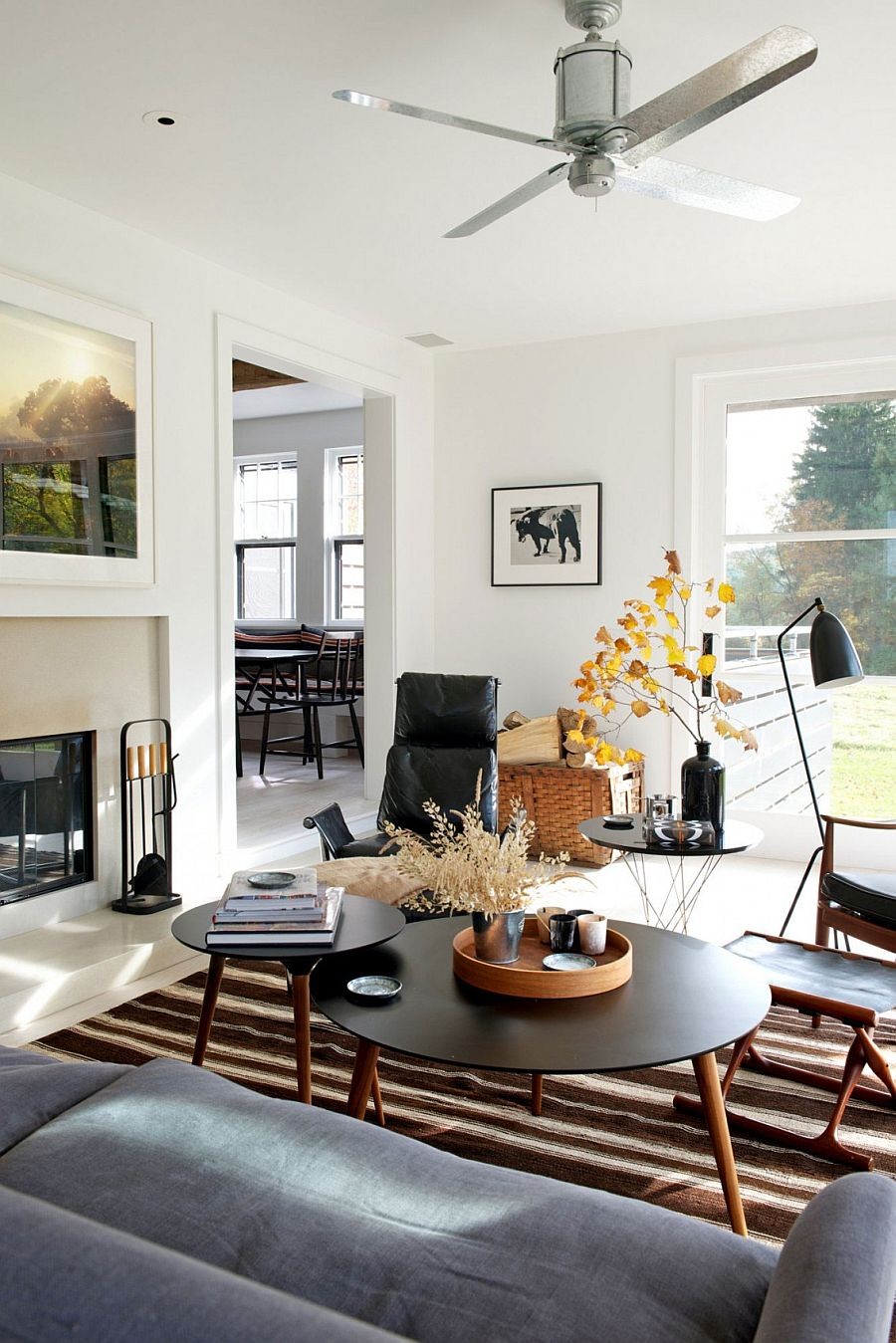 Midcentury bungalow in new york delights with vintage panache for New york home decorations