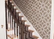 Wallpaper-brings-vintage-pattern-to-the-stairway-217x155