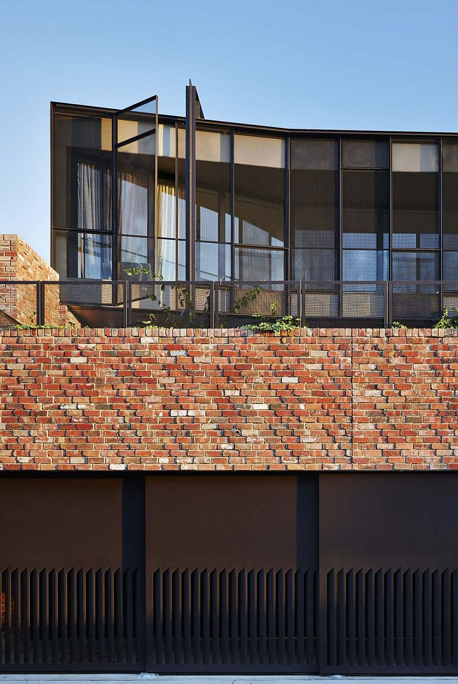 Warehouse inspired exterior of the House of Bricks in Melbourne
