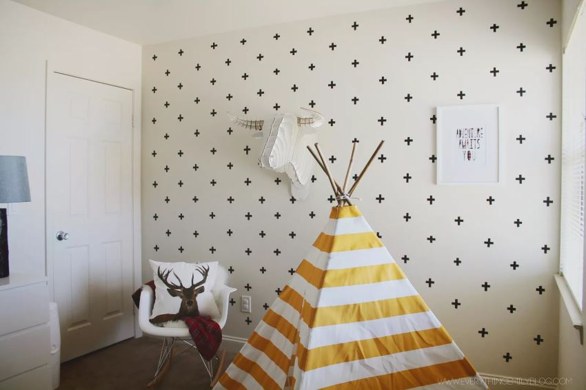 Washi tape wall decals from Everything Emily  Easy Wall Decorating Ideas for Renters Washi tape wall decals from Everything Emily