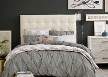 West Elm Organic Cotton Sheets Grey Pintuck