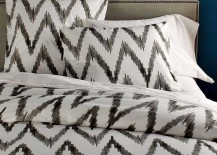 West Elm Organic Cotton Sheets Ikat Pattern Bedding