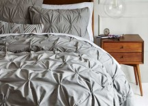 West Elm Organic Cotton Sheets Pintuck Texture in Grey