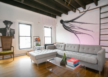 West Village Penthouse Apartment living room with Wall art