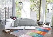 White linen panels from CB2 217x155 Easy, Breezy Summer House Style