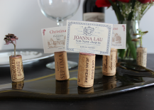 Wine Cork Placecard Holder