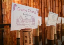 Wine Cork Placecard Holders at Party