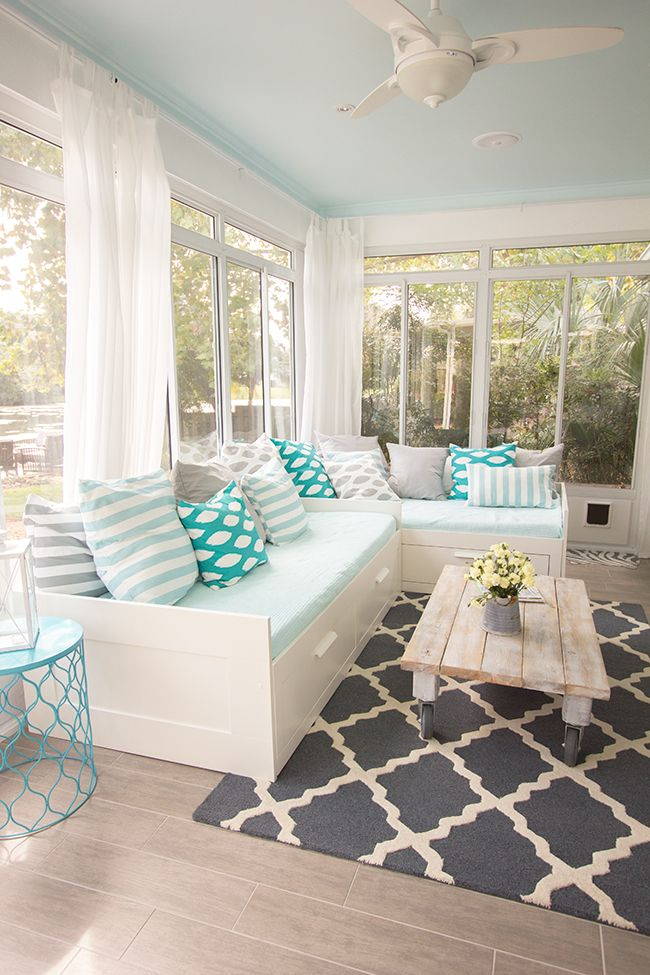 blue sunroom