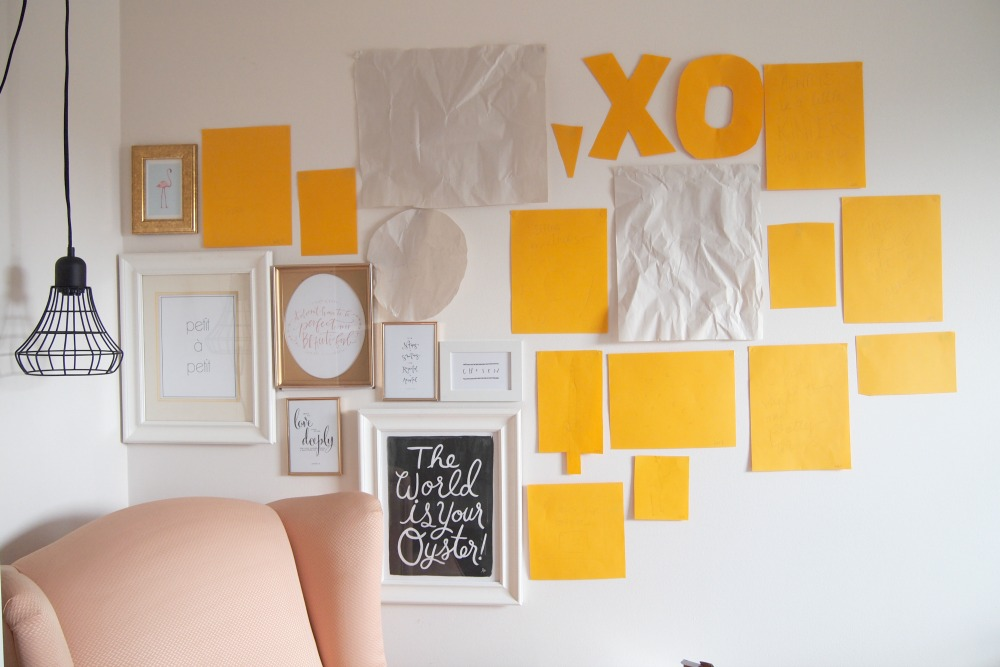 Gallery wall – adding frames