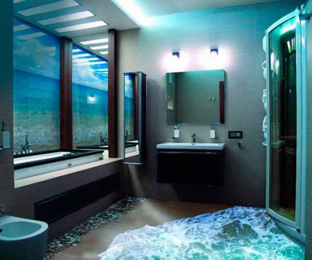 turn any room into a stunning work of art with 3d epoxy flooring On ocean bathroom