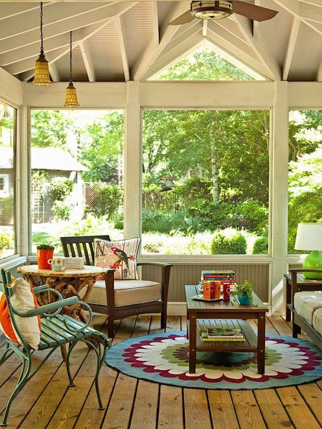 sunroom trees landscaping