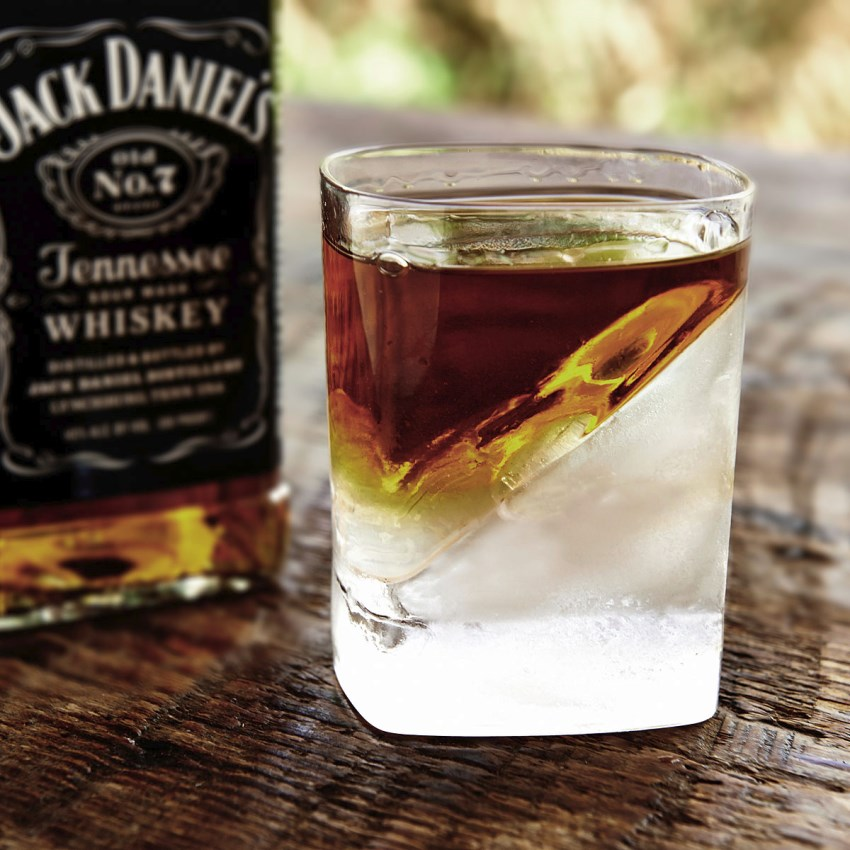 A Whiskey Wedge keeps drinks cool