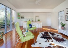A flood of natural light enlivens the living space 217x155 Affordable and Stylish Second Dwelling: One Bedroom Home in Brisbane