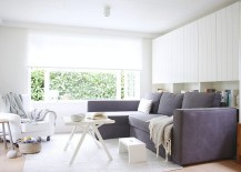 A living room that is all about white!