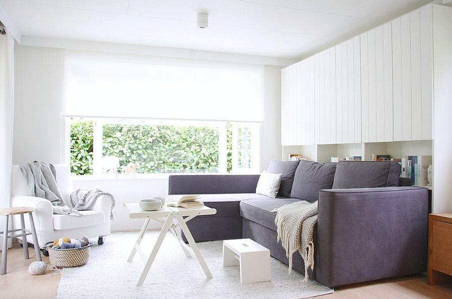 A living room that is all about white! [From: Holly Marder]