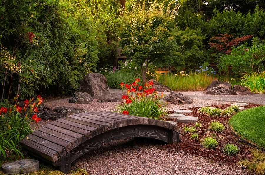 a small garden bridge for your japanese garden design kikuchi kankel design group - Japanese Wooden Garden Bridge