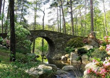 A stunning stone bridge for the English-style garden