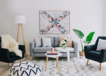 A touch of greenery for your chic Scandinavian living room 217x155 50 Chic Scandinavian Living Rooms That Steal the Show!